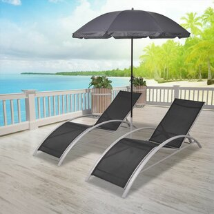 Charlita Sun Double Chaise Lounge (Set of 3) by Latitude Run
