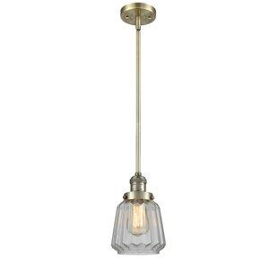 Vinson 1-Light Bell Pendant by Latitude Run