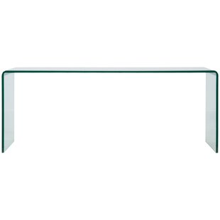 Rabayda Bended Glass TV Stand By Wade Logan