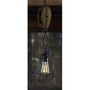 Barn pulley pendant light wayfair pulley 1 light cone pendant aloadofball Image collections