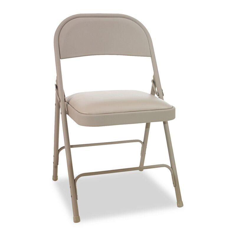 Hon High Back Vinyl Padded Folding Chair Reviews Wayfair