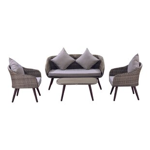 Brunswick 4 Piece Sofa Set with Cushions