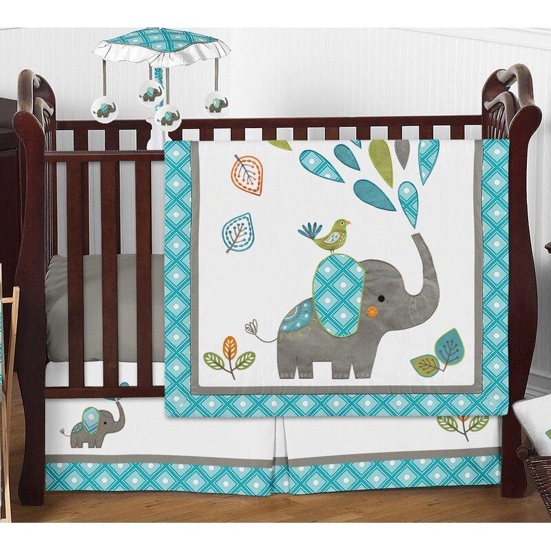 Sweet Jojo Designs Mod Elephant 4 Piece Crib Bedding Set Wayfair