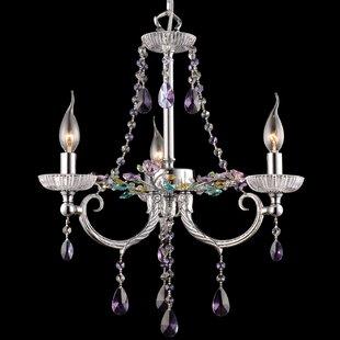 House of Hampton Drake 3-Light Crystal Ch..