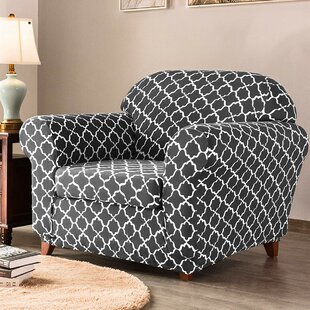 Cloud Printed Box Cushion Armchair Slipcover