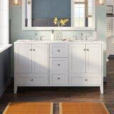 Araminta 60 Double Bathroom Vanity Set by Beachcrest Home™