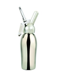 Professional 1 Pint Cream Whipper in Polished Stainless Steel