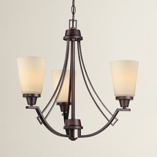 Simpson Contemporary 3-Light Shaded Chandelier by Latitude Run