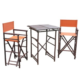 Kapur 3 Piece Bar Height Dining Set by Bl..