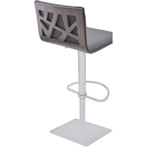 Bonetti Adjustable Height Swivel Metal Bar Stool by Orren Ellis