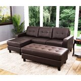 Oliver 90 Reversible Modular Sectional with Ottoman by Breakwater Bay