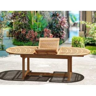 Stringer Teakwood Extendable Solid Wood Dining Table
