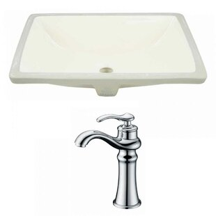 Find a CUPC Ceramic Rectangular Undermount Bathroom Sink with Faucet and Overflow By Royal Purple Bath Kitchen
