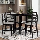 Boree 5 Piece Counter Height Dining Set by Red Barrel Studio®