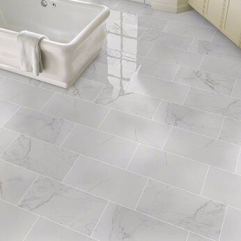 Pietra Carrara 12 X 24 Porcelain Field Tile In White