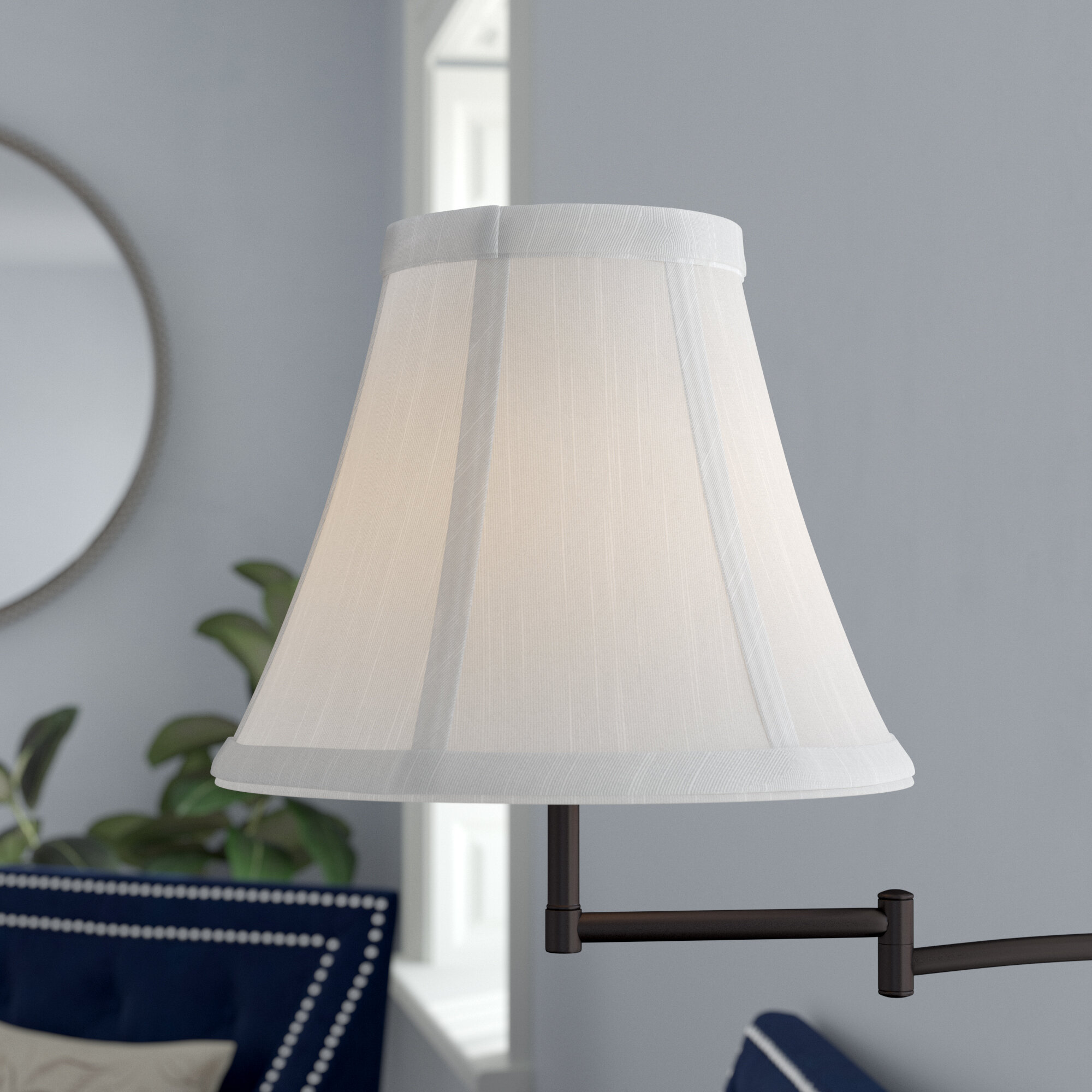 Cream Softback Accent Shade Lamp Light Accessory Lampshade Modern Bell Decor New