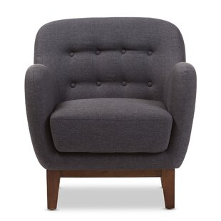 Winston Porter Wrentham Upholstered Button Tufted Armchair
