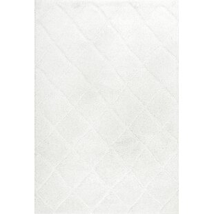 Budget Hermione White Area Rug By House of Hampton