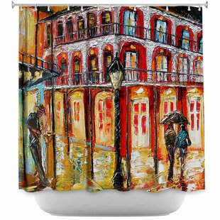 New Orleans French Quarter Single Shower Curtain