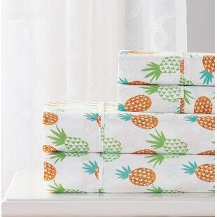 Bay Isle Home Singh 4 Piece Pineapple Sheet Set