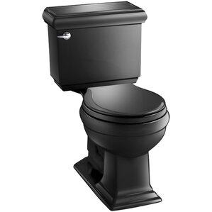 memoirs classic comfort height twopiece roundfront 128 gpf toilet with aquapiston flush