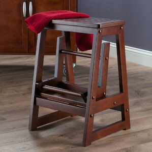 2-Step Wood Step Stool with 200 lb. Load Capacity & Ladders u0026 Step Stools Youu0027ll Love | Wayfair islam-shia.org