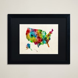 United States Map Wall Art Wayfair