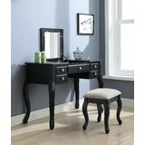 Westberg Vanity Set with Stool and Mirror by Canora Grey