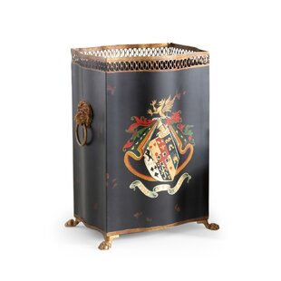 Chelsea House Coat/Arms Tole Waste Basket