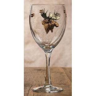 adelson moose glass 16 oz goblet set of 4 - Moose Glasses From Christmas Vacation