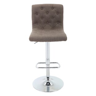 Aadhya Adjustable Height Swivel Bar Stool Ebern Designs