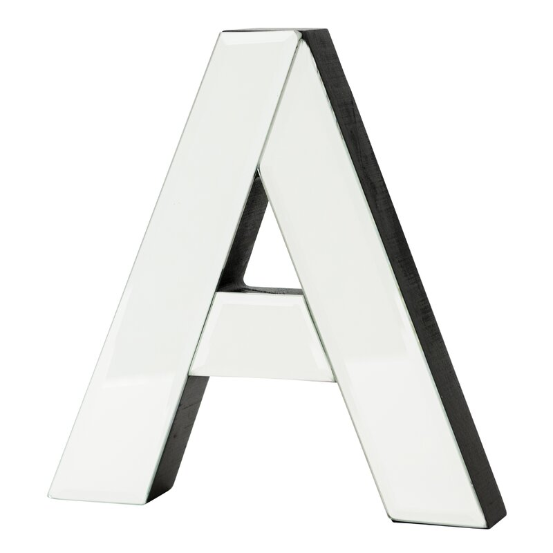 """""""a"""" Glass Letter Block"""