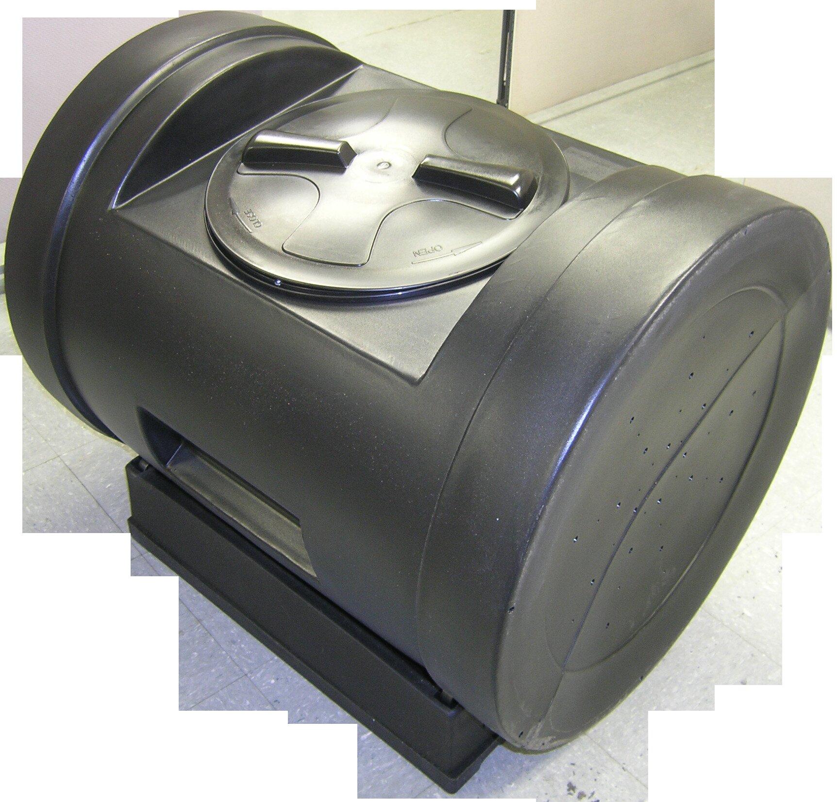 Recycled Plastic Compost Tumbler , Good Ideas 52 Gallon Compost Wizard Jr