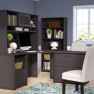 Coalton 4 Piece Traditional L-Shape Desk Office Suite by Andover Mills