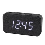 Modern & Contemporary Digital Electric Alarm Tabletop Clock in Black by Jensen