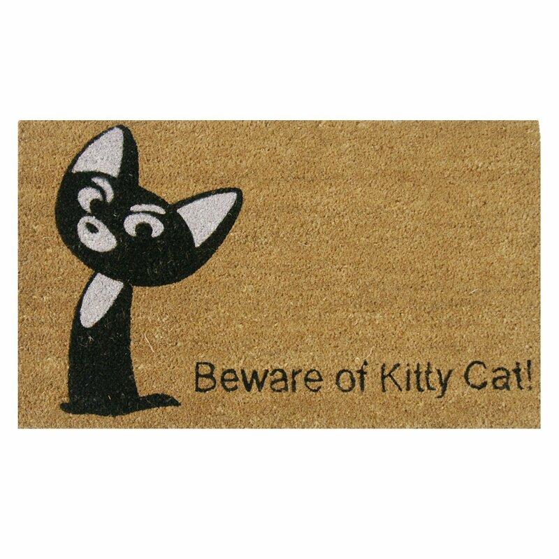 Beware of Kitty Cat Animal Doormat  sc 1 st  Wayfair & Rubber-Cal Inc. Beware of Kitty Cat Animal Doormat \u0026 Reviews | Wayfair