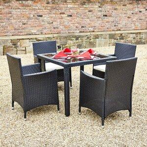 4-Sitzer Gartengarnitur mit Polster von Hokku Designs