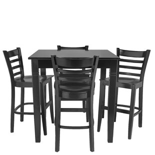 Weisberg 5 Piece Pub Table Set Red Barrel Studio