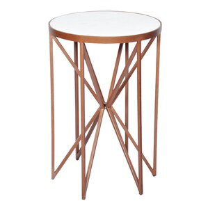 Aquarius Butterfly End Table by Everly Quinn