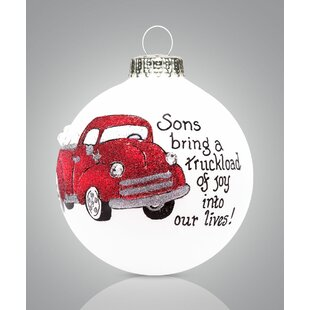 57ad8d1c292e Son Truck Ball Ornament. By The Holiday Aisle