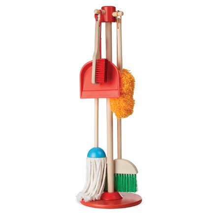 Let's Play House! Dust, Sweep and Mop Housekeeping Set