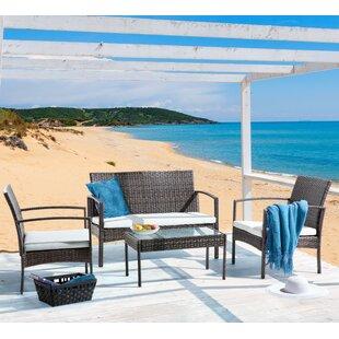 Free Shipping Marsala 4 Seater Rattan Sofa Set