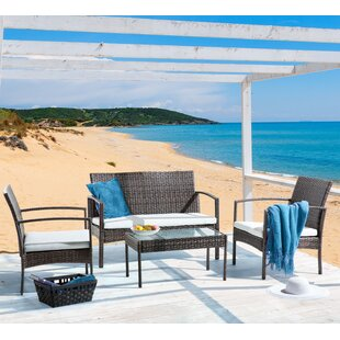 Marsala 4 Seater Rattan Sofa Set By Sol 72 Outdoor