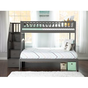Westbrook Staircase Twin over Full Bunk Bed in Espresso