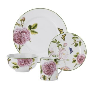 Roses 16 Piece Dinnerware Set Service for 4  sc 1 st  Wayfair & Roscher Dinnerware | Wayfair