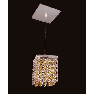 Classic Lighting Bedazzle 1-Light Crystal Pendant