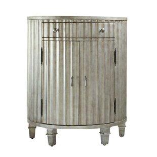 Hooker Furniture Melange Fluted Demilune 1 Drawer Accent Cabinet