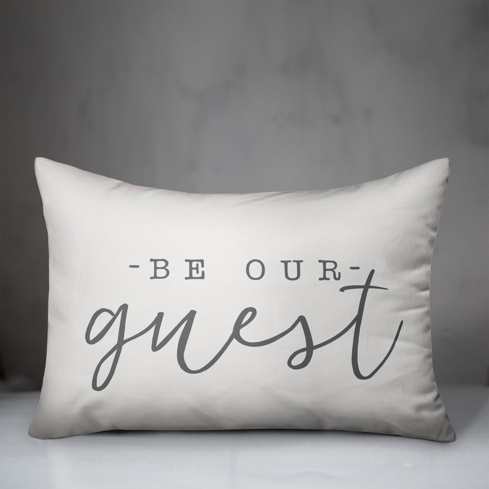 Ebern Designs Luff Be Our Guest Indoor Outdoor Lumbar Pillow