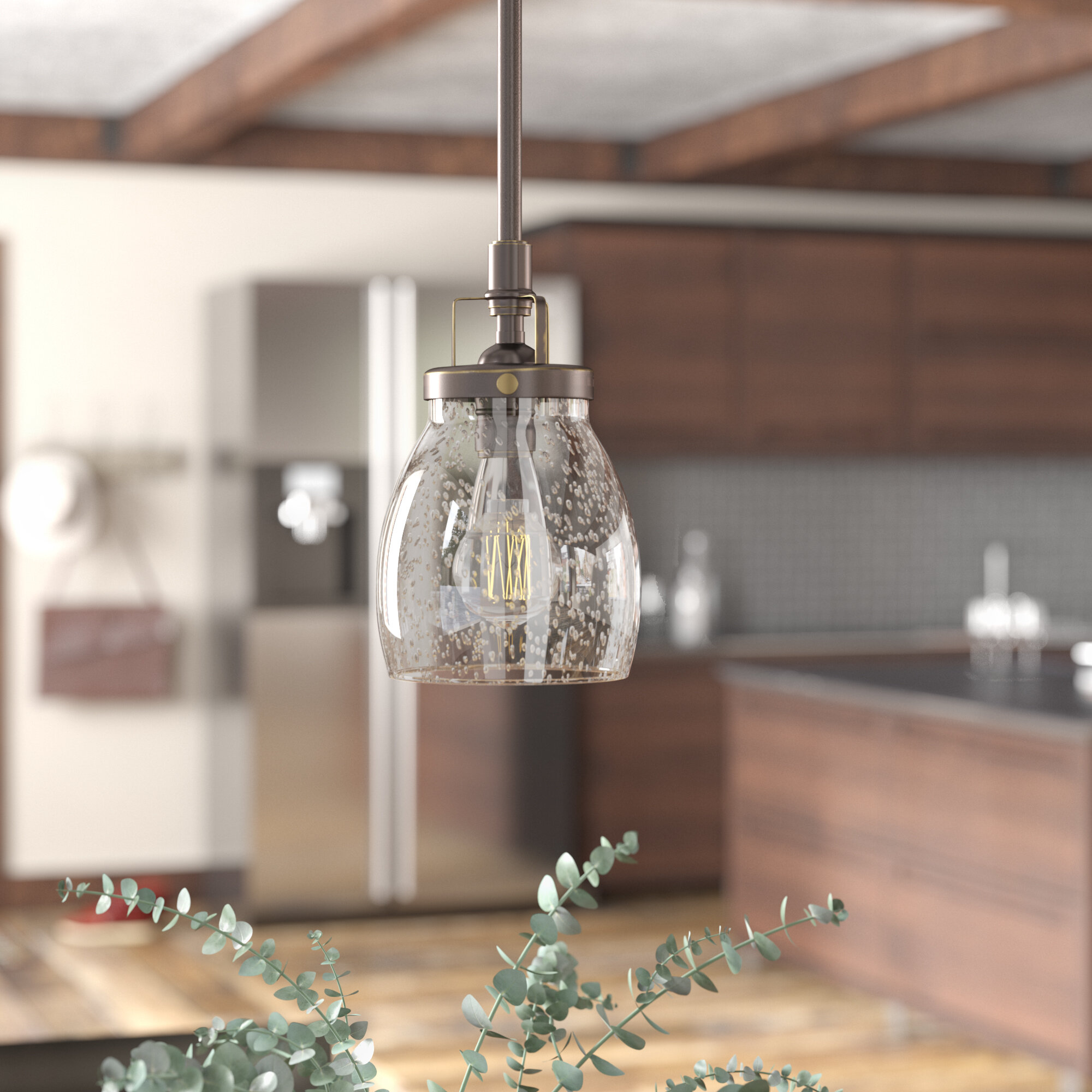 Clear Glass Shade Pendant Lighting You Ll Love In 2020 Wayfair