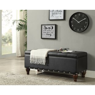 Alcott Hill Hemby Faux Leather Storage Be..